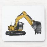 Big Yellow Excavator Mouse Pad