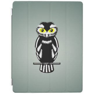 Big Yellow Eyed Owl Black and White iPad Smart Cover