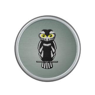 Big Yellow Eyed Owl Black and White Speaker