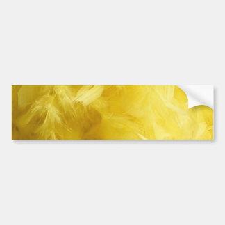 Big Yellow Feathers Car Bumper Sticker