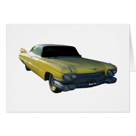 Big Yellow Fin 59 Cadillac Card