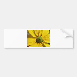 Big Yellow Flower Bumper Sticker