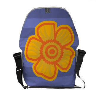 Big Yellow Flower Courier Bag