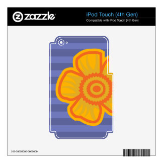 Big Yellow Flower Decal For iPod Touch 4G