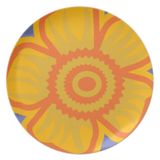 Big Yellow Flower Dinner Plates