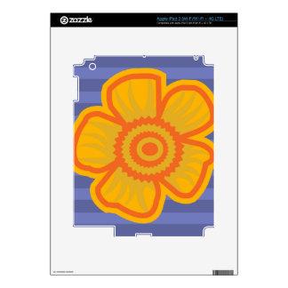 Big Yellow Flower Skin For iPad 3