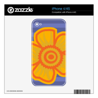 Big Yellow Flower Skin For The iPhone 4S