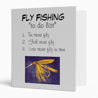 """""""Big Yellow May-To Do List"""" Fly Fishing Journal 3 Ring Binder"""