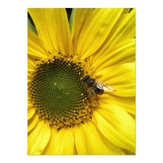 big yellow more flower with A bee 5.5x7.5 Paper Invitation Card