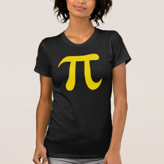 Big yellow pi symbol ladies t-shirt