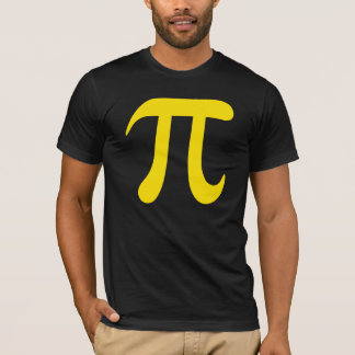 Big yellow pi symbol t-shirt