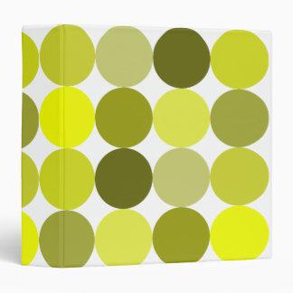 Big Yellow Polka Dots Binder