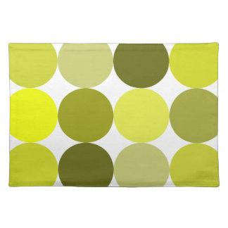 Big Yellow Polka Dots Cloth Placemat