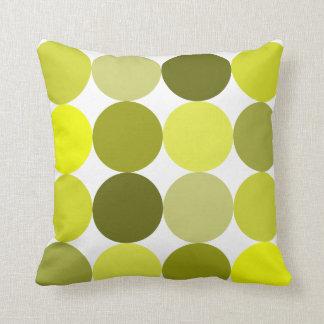 Big Yellow Polka Dots Pillow