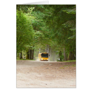 Big Yellow School Bus Greeting Card