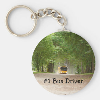 Big Yellow School Bus Keychain