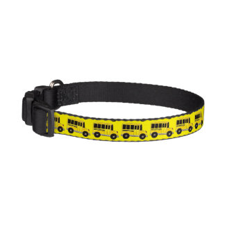 Big Yellow School Bus Pet Dog Collar