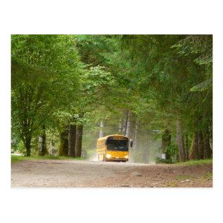 Big Yellow School Bus Post Card