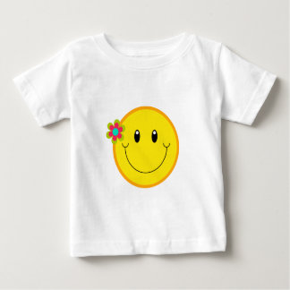 Big Yellow Smiley Face Baby T-Shirt