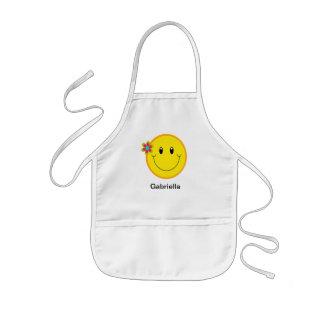 Big Yellow Smiley Face Kids' Apron