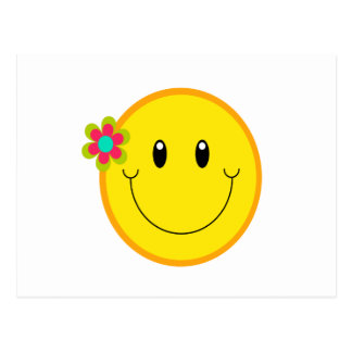 Big Yellow Smiley Face Postcard