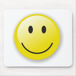 big yellow smilie mouse pad