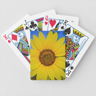 Big Yellow Sunflower Bicycle Playing Cards
