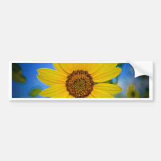Big Yellow Sunflower Bumper Sticker