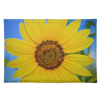 Big Yellow Sunflower Cloth Placemat