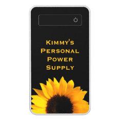 Big Yellow Sunflower Custom Power Bank at Zazzle