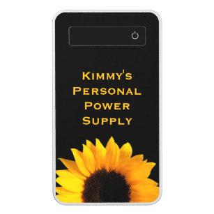 Big Yellow Sunflower Custom Power Bank