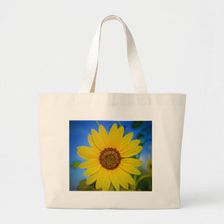 Big Yellow Sunflower Large Tote Bag