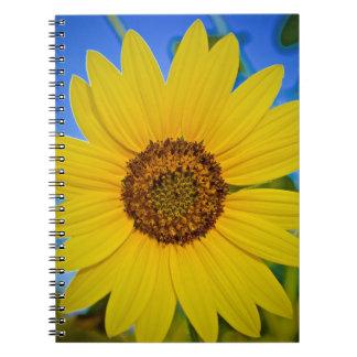 Big Yellow Sunflower Spiral Notebook