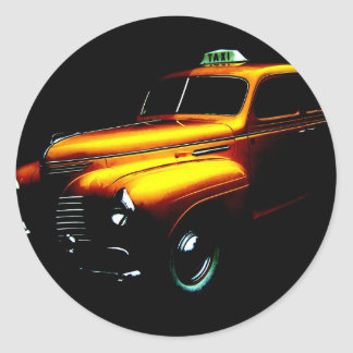 Big Yellow Taxi Classic Round Sticker