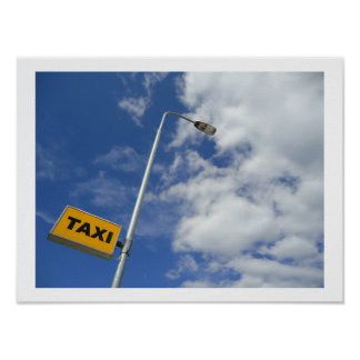 Big Yellow Taxi sign Poster