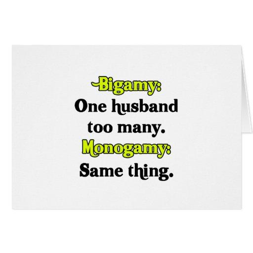 Bigamy/Monogamy Cards