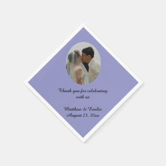 Bígaro personalizado casando servilletas de la servilleta de papel