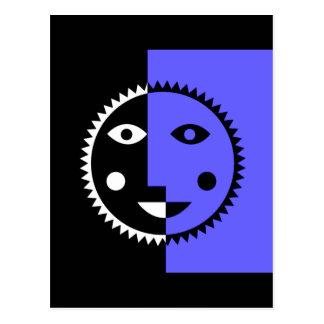 Bígaro Sun abstracto azul Postal