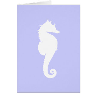 Bígaro y caballo de mar blanco tarjeta de felicitación