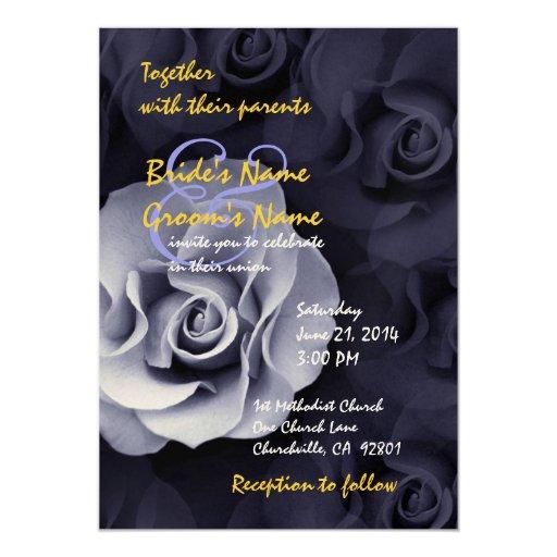 Bígaro y oro subiós casando la invitación invitación 12,7 x 17,8 cm
