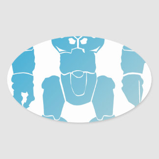 BigBot Robot Oval Sticker