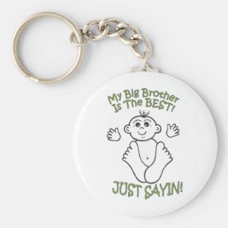 bigbrother basic round button keychain