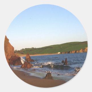 Bigbury en el mar pegatina redonda