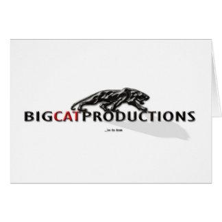 BIGCATPRODUCTIONS LOGO GREETING CARDS