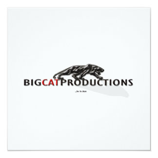 BIGCATPRODUCTIONS LOGO INVITES