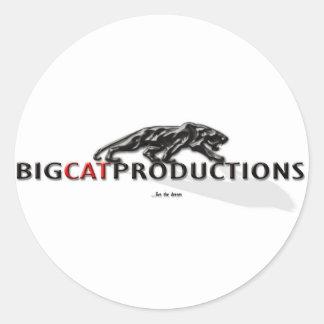 BIGCATPRODUCTIONS LOGO STICKER