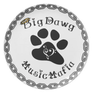 BigDawg Music Mafia Gear Dinner Plate