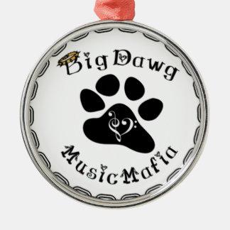BigDawg Music Mafia Gear Metal Ornament
