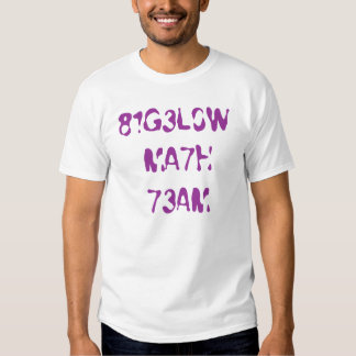 Bigelow Math Team 2 Tee Shirt