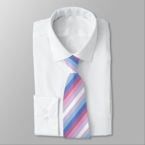 Bigender Flag Neck Tie